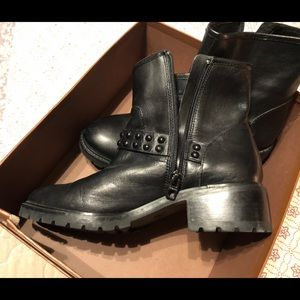 Coach Shoes - Like new Coach ankle boots. Worn ONCE